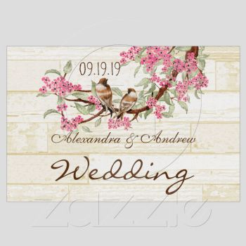 Cherry Blossom Love Bird Lawn Sign